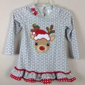 Emily Rose Girls Sz 8 Holiday Reindeer Tunic Top